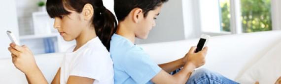 Niños adictos al móvil