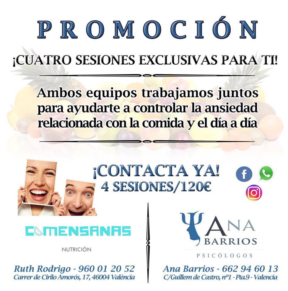 promoción Ana Barrios y Comensanas
